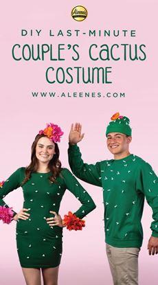 Picture of Last-Minute Couple's Cactus Costume