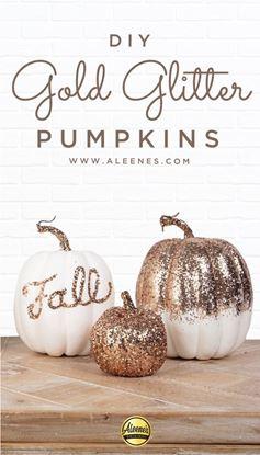 Picture of DIY Fall Glitter Pumpkins