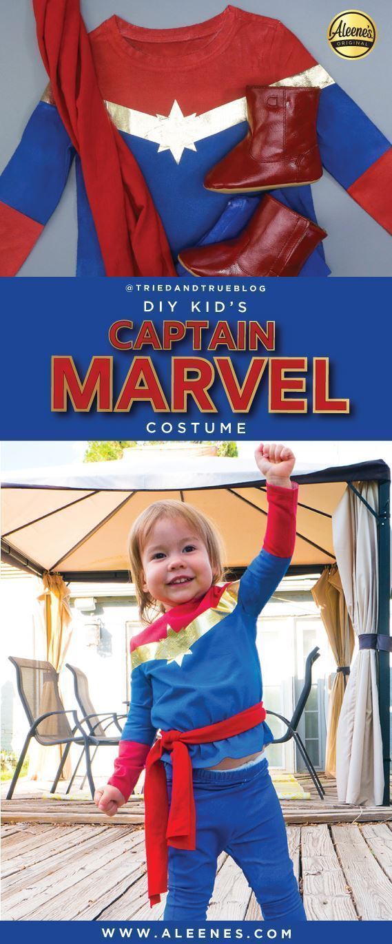 Aleene's No-Sew Captain Marvel Kid's Costume