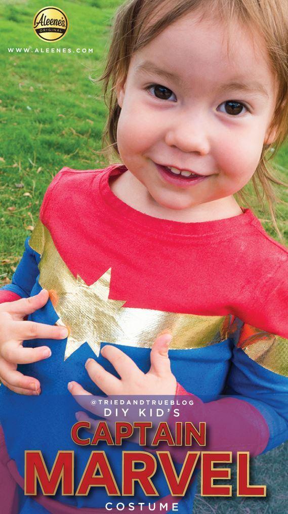 Picture of Aleene's No-Sew Captain Marvel Kid's Costume