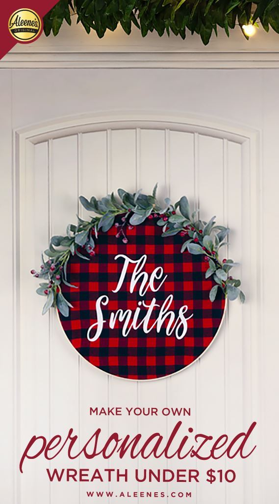 Picture of Aleene's Personalized Holiday Embroidery Hoop Wreath