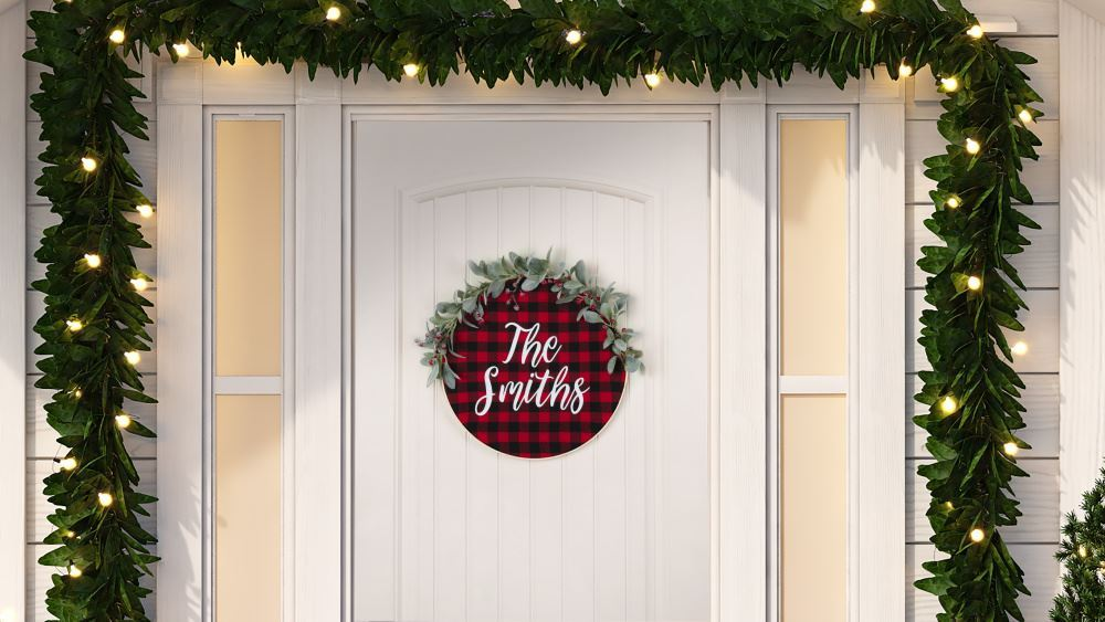 Picture of Christmas Door Decor Idea for $10