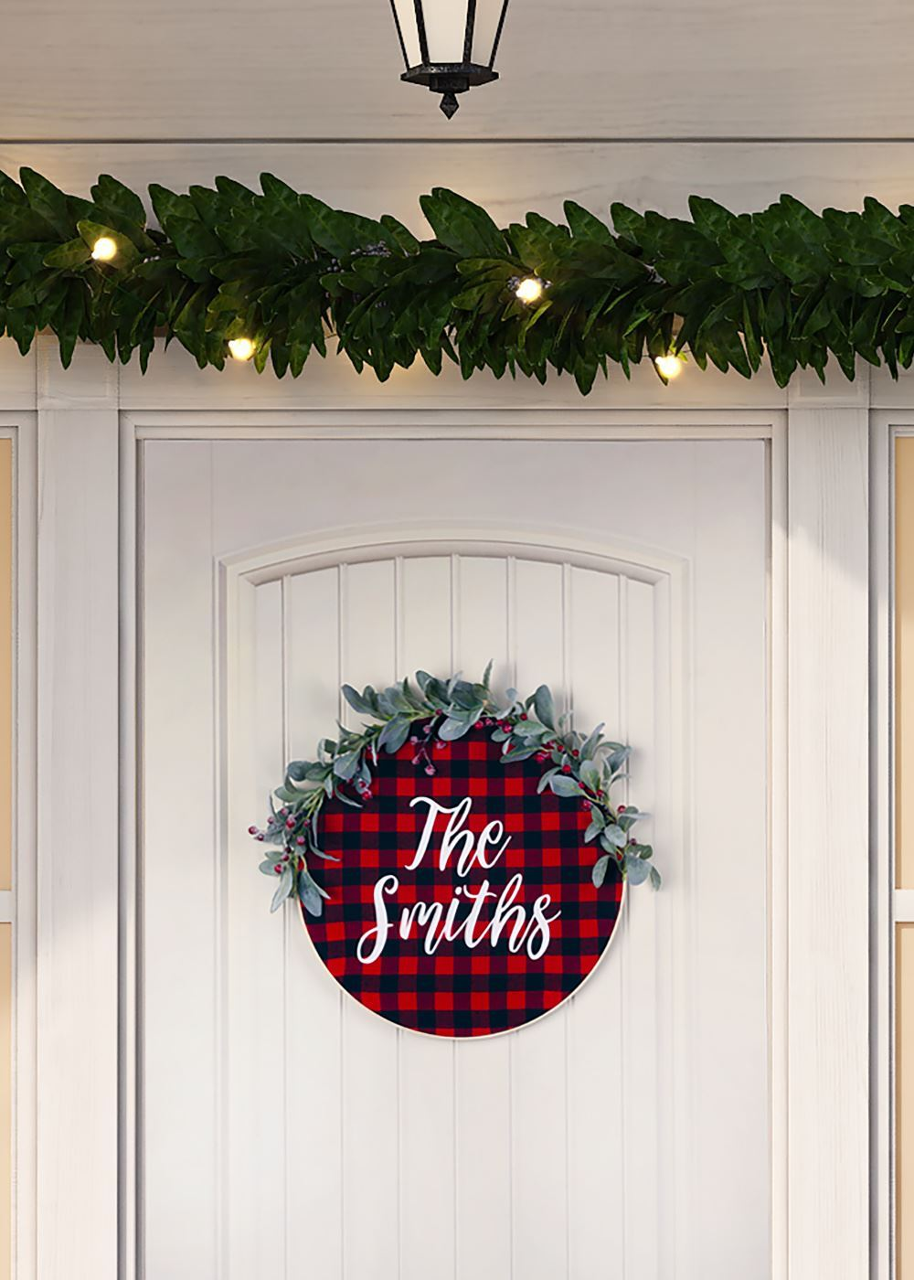 Aleene's Personalized Holiday Embroidery Hoop Wreath