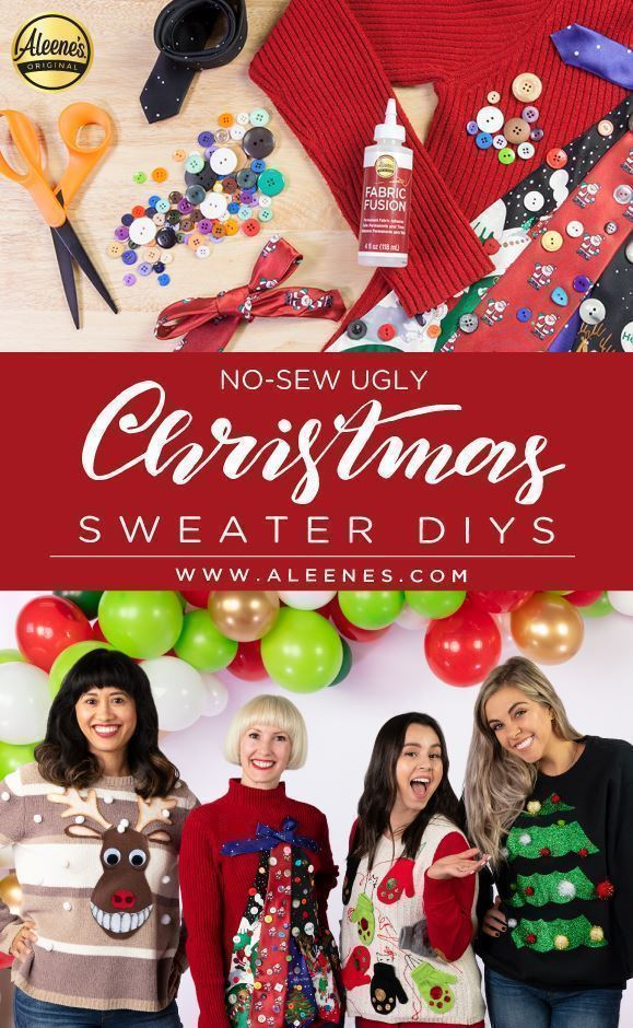 Aleene's No-Sew Ugly Christmas Sweater DIYs