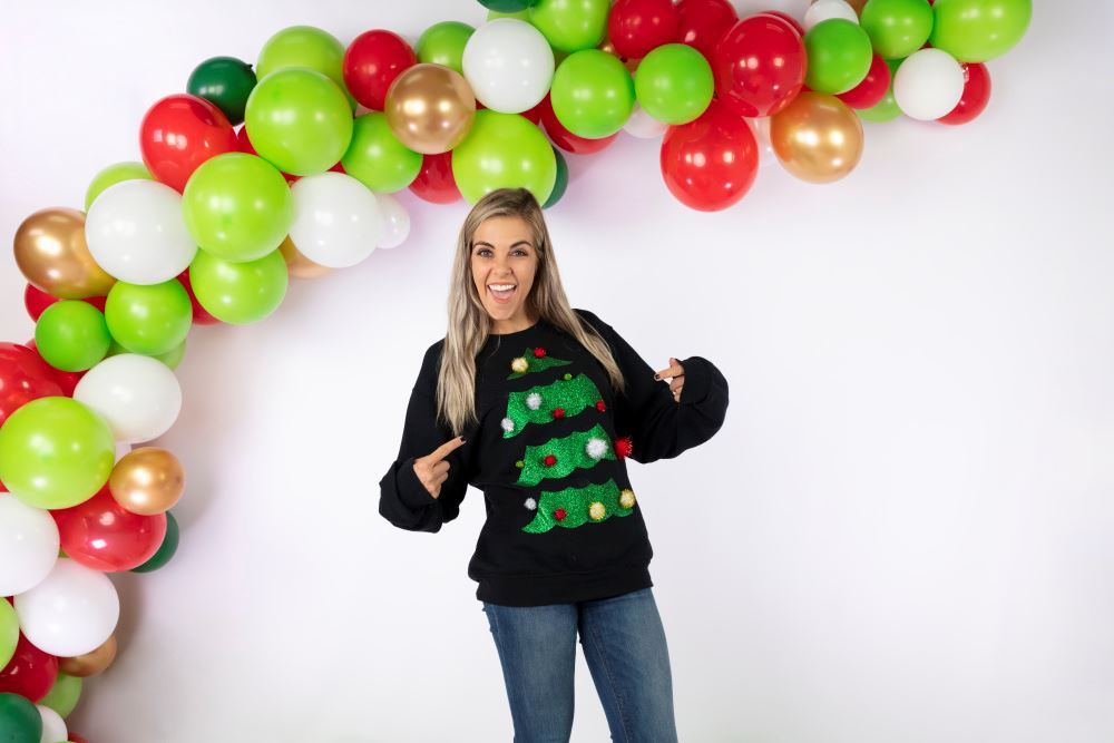 Aleene's No-Sew Shimmer Tree Ugly Sweater
