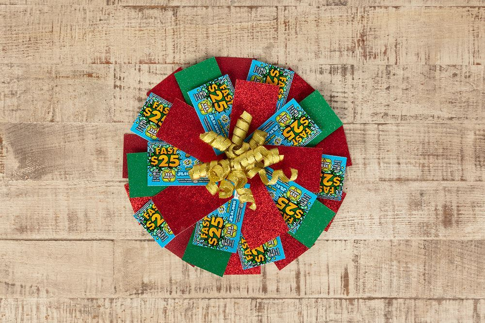 Picture of Secret Santa Gifts: Lotto Ticket Wreath