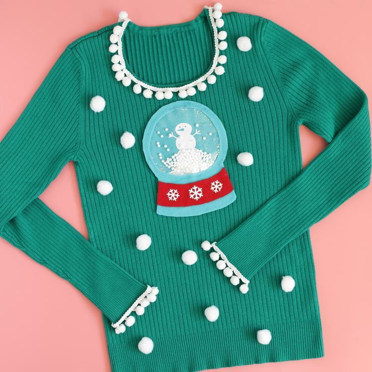 Aleene's No-Sew Snow Globe Ugly Christmas Sweater