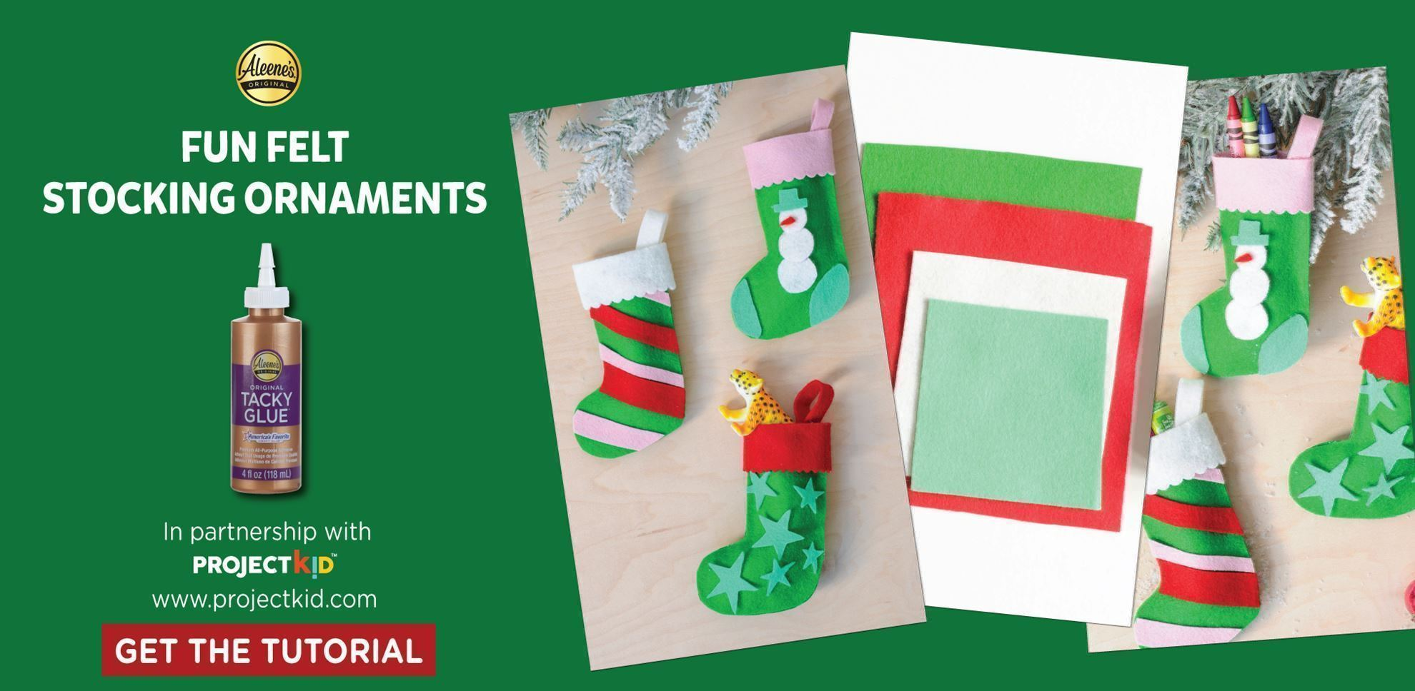 Fun Felt Christmas Stocking Ornaments