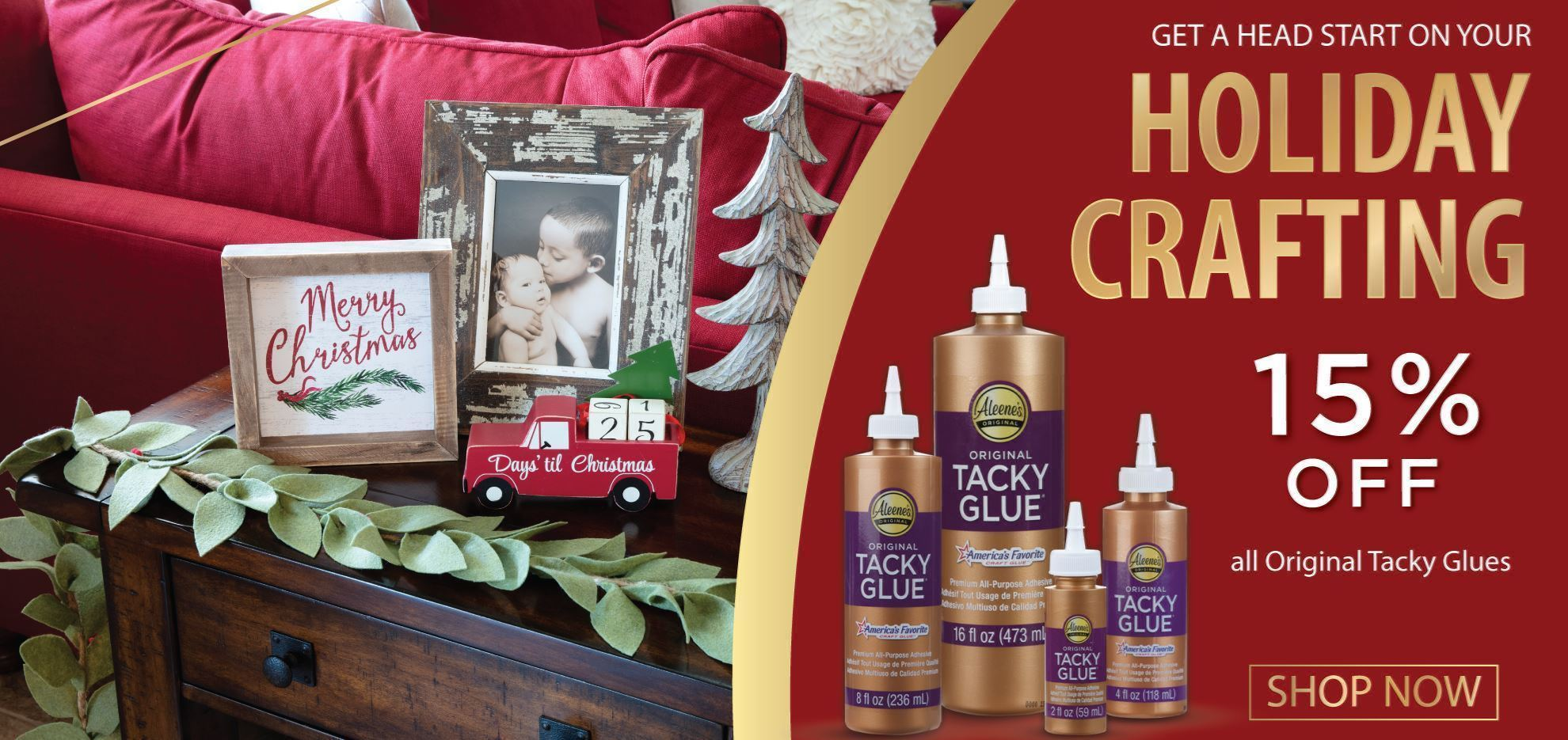 15% Off All Original Tacky Glues