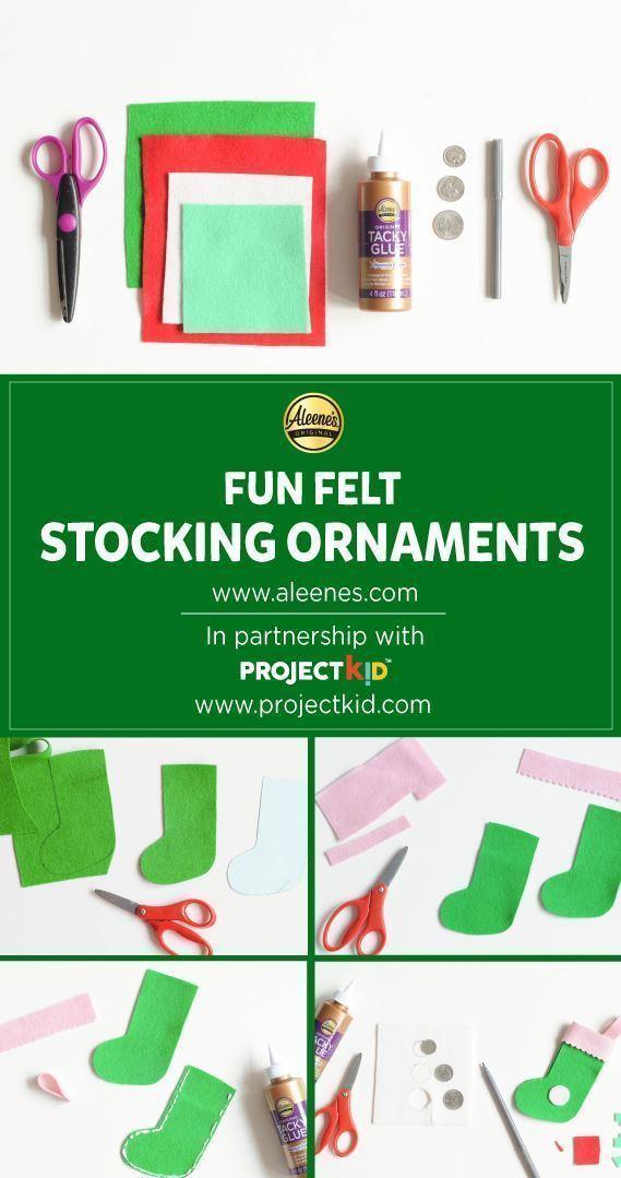 Aleene's Felt Stocking Ornaments for Kids