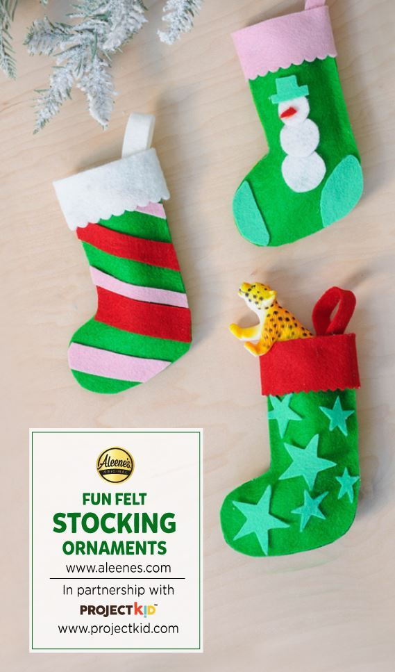 Picture of Aleene's Felt Stocking Ornaments Craft