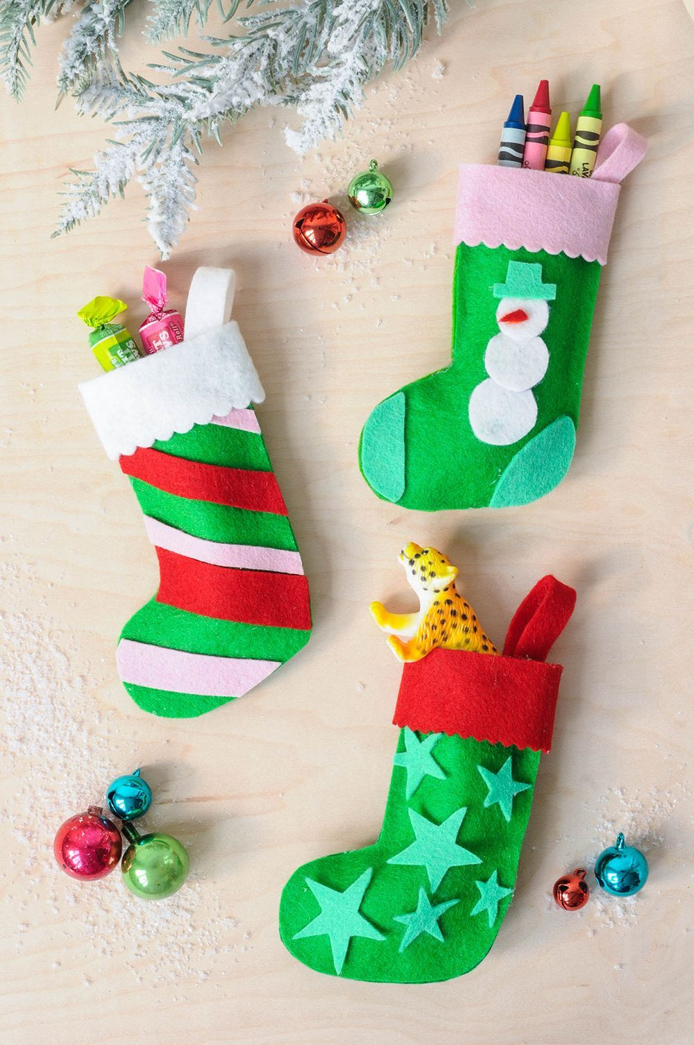 Picture of Felt Stocking Ornaments Craft