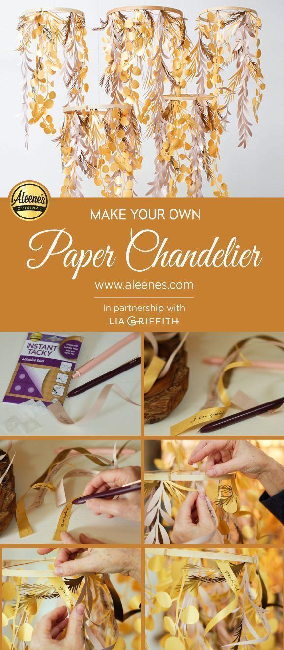 Aleene's Paper Chandelier