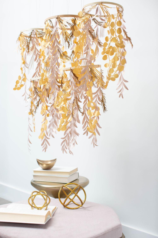 Aleene's Paper Leaf Chandelier
