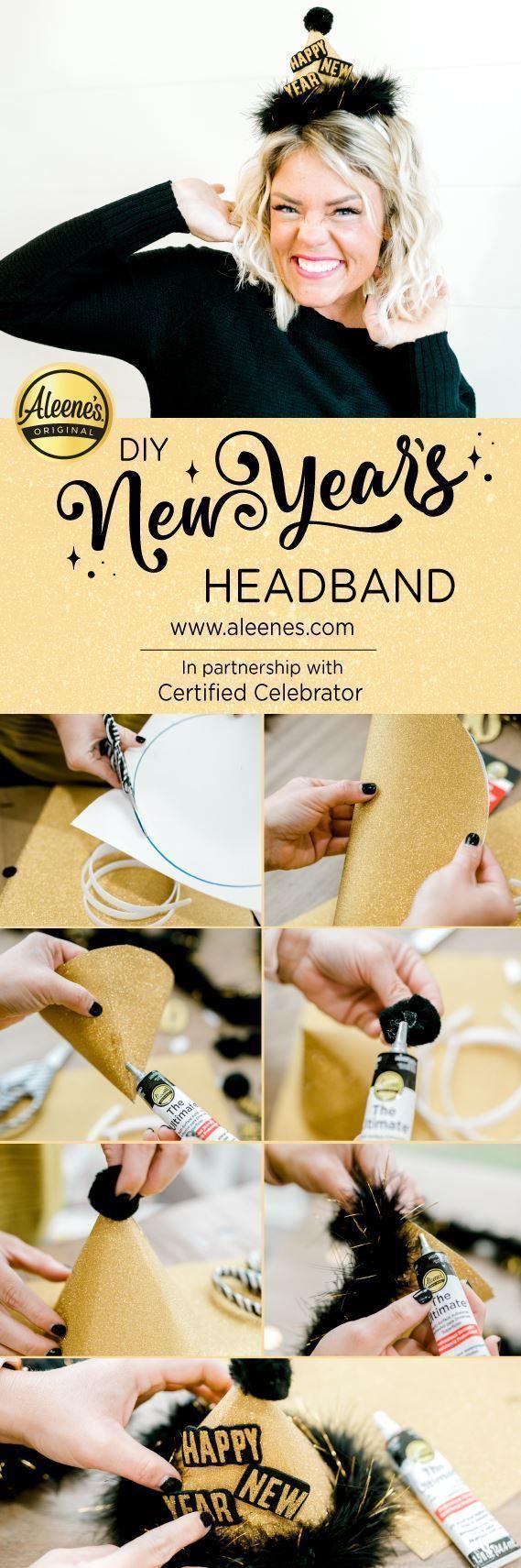 Aleene's DIY New Year's Headbands