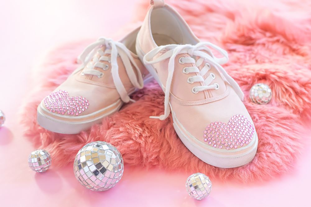 Picture of DIY Crystal Heart Shoes