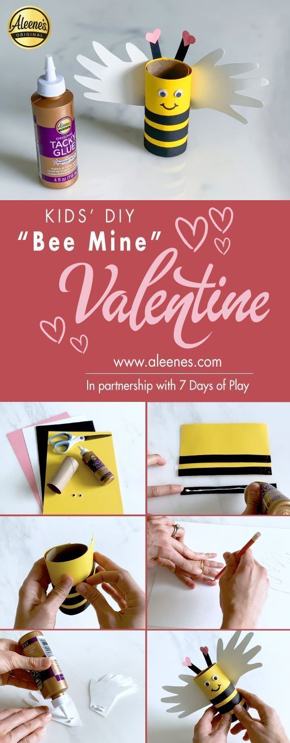 Aleene's Bee Mine Paper Valentine's Day Craft