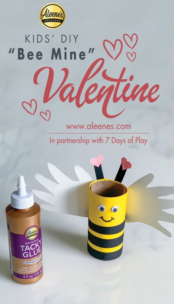 Picture of Aleene's Bee Mine Paper Valentine's Day Craft