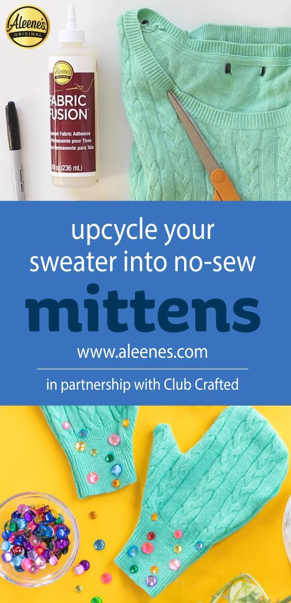 Picture of Aleene's Upcycle Your Sweater into No-Sew Mittens