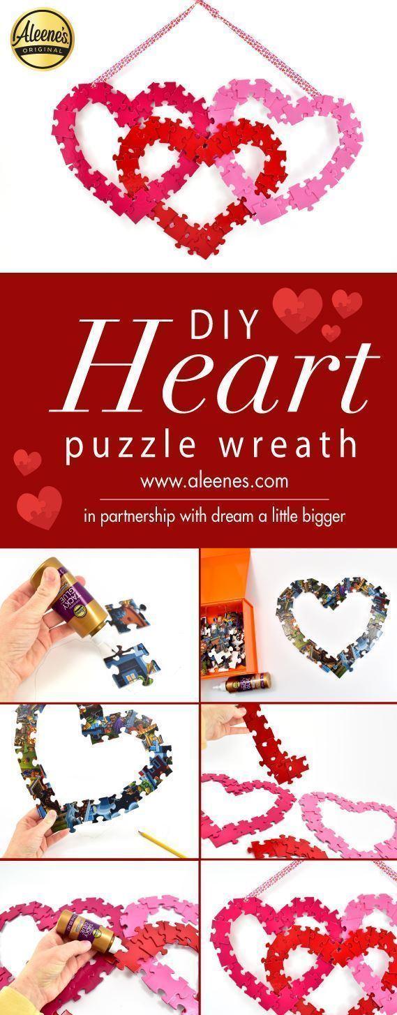 Aleene's Easy Puzzle Heart Wreath