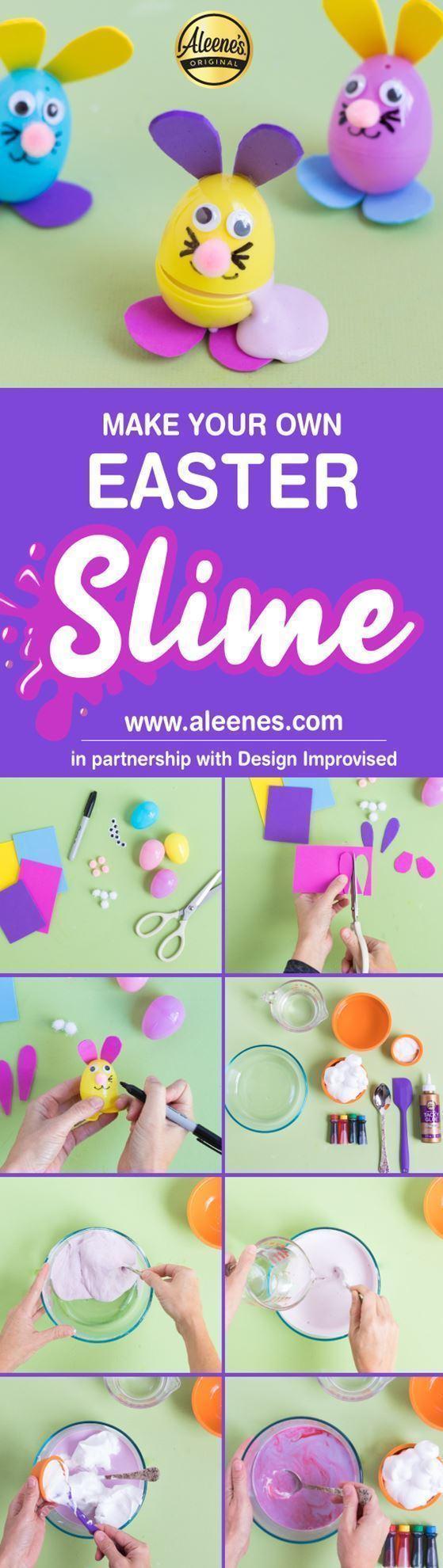 Aleene's Easy Easter Craft: Pastel Fluffy Slime