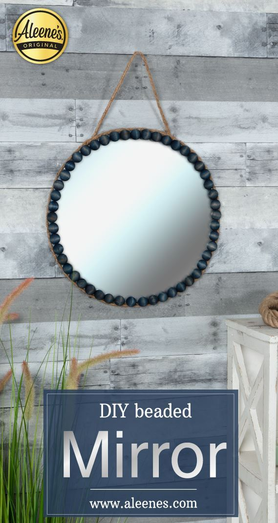 Picture of Aleene's Wood Craft Idea: DIY Beaded Mirror