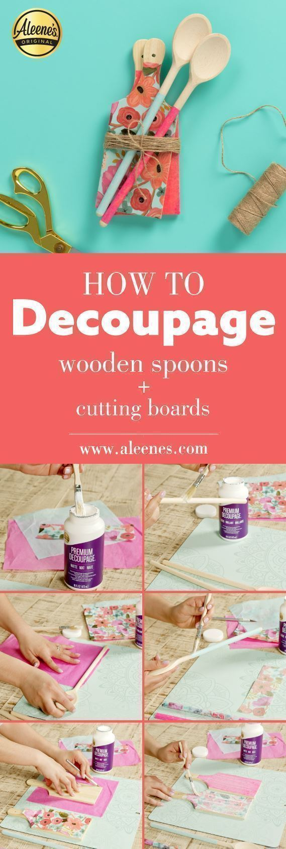 Aleene's How To Decoupage Kitchen Accessories