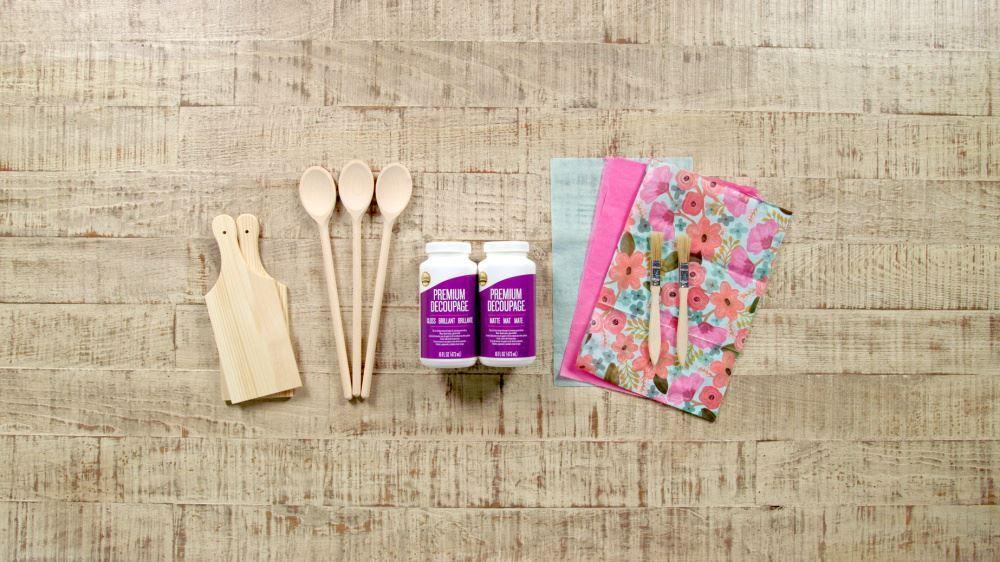 Aleene's How To Decoupage Kitchen Accessories - supplies