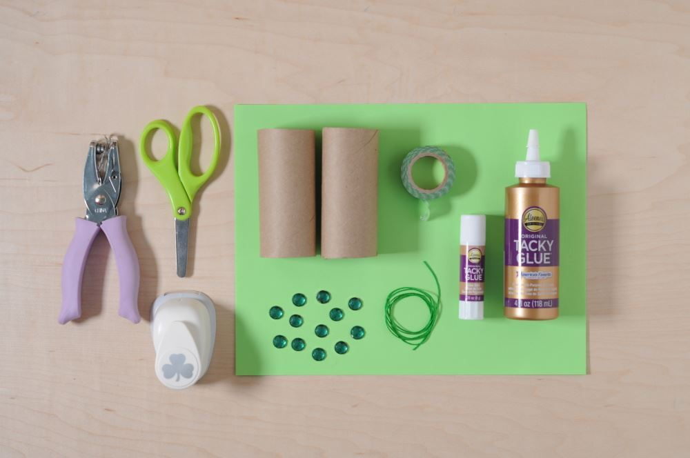 Aleene's Easy Paper Craft: Leprechaun Finder - supplies