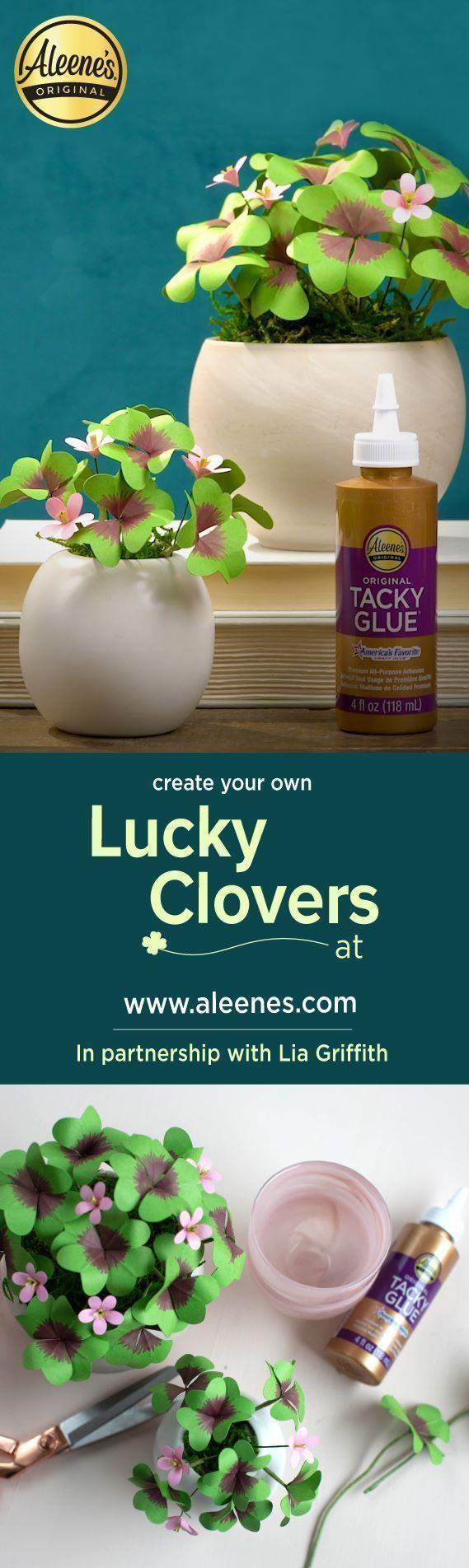 Aleene's Pretty Paper Clovers DIY