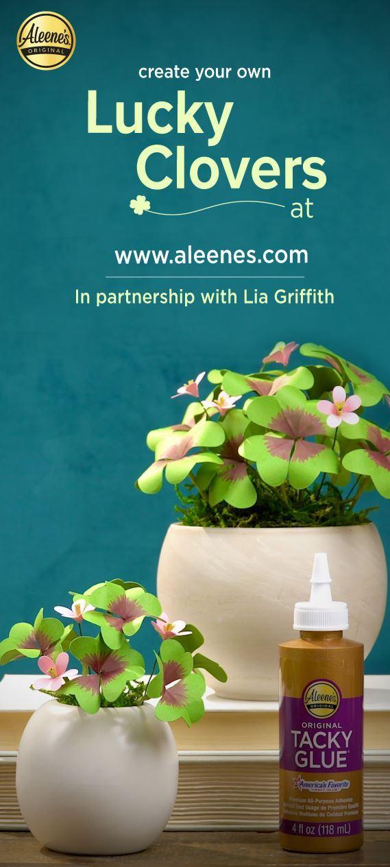 Picture of Aleene's Pretty Paper Clover Plants DIY