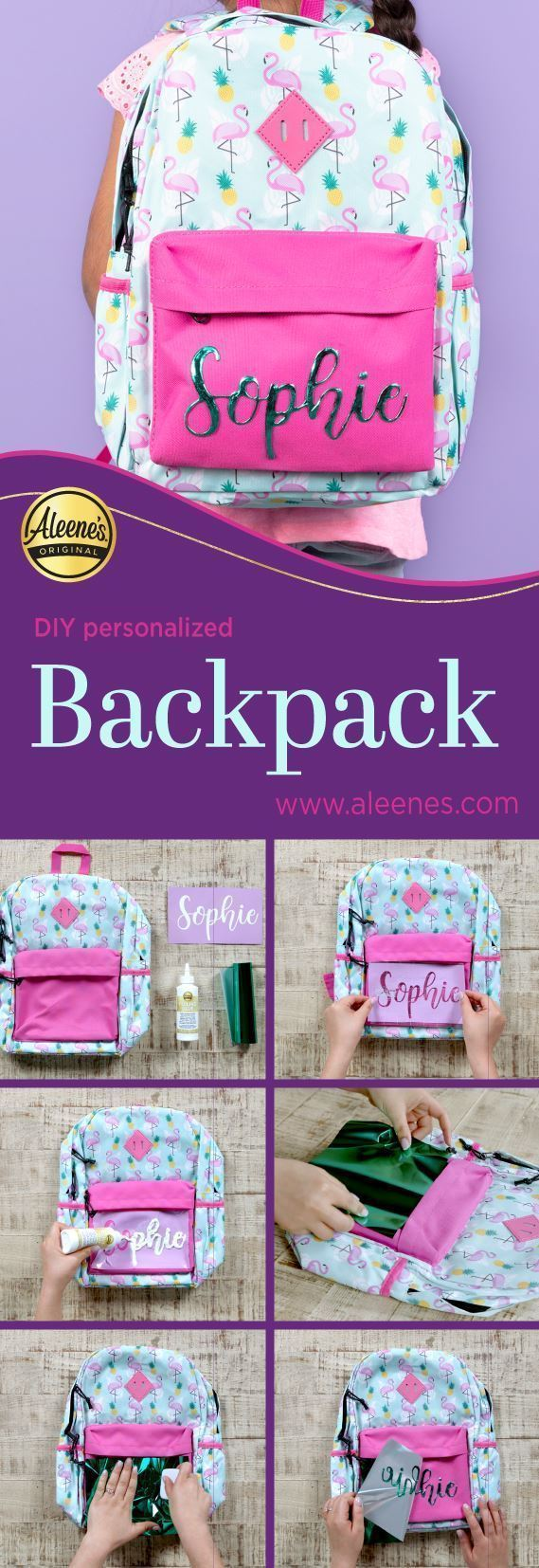 Aleene's Personalized Backpack with Foiling glue