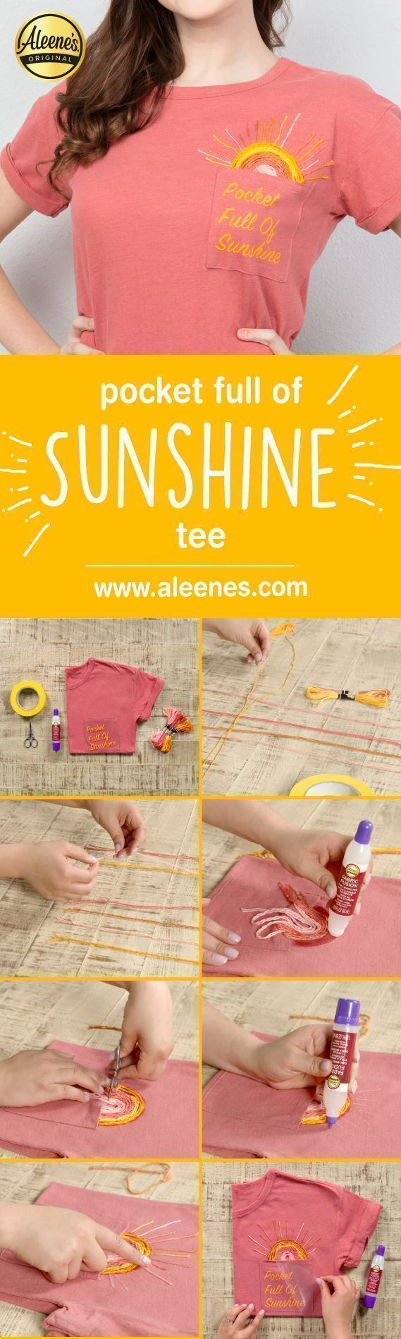 Aleene's Pocket Full of Sunshine Quote Art Tee