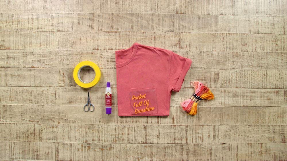 Aleene's Pocket Full of Sunshine Quote Art Shirt - supplies