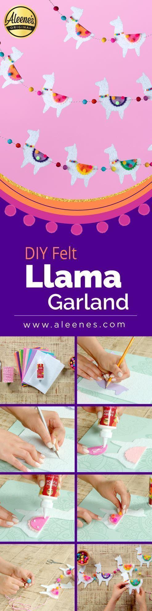 Aleene's DIY Felt Llama Garland