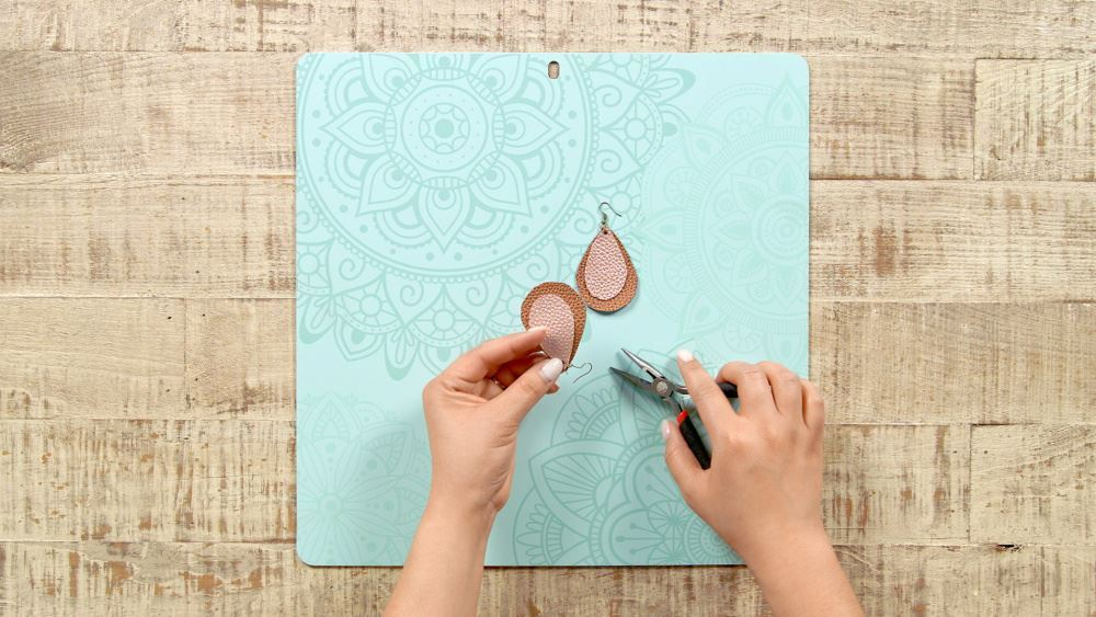 Aleene's DIY Leather Earrings - attach fishhooks