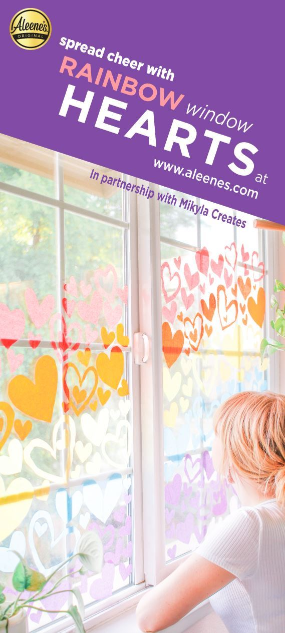 Picture of Aleene's Rainbow Paper Hearts Display