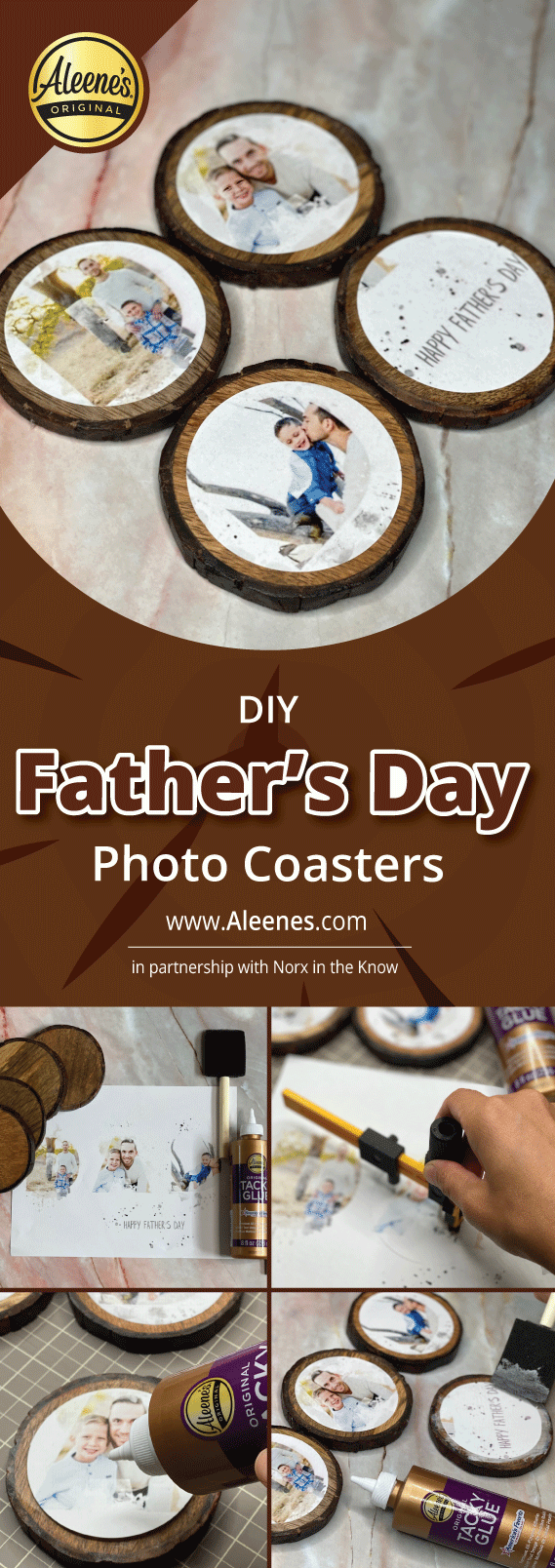 DIY Father's Day Photo Coasters