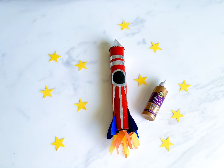 Finish decorating rocket