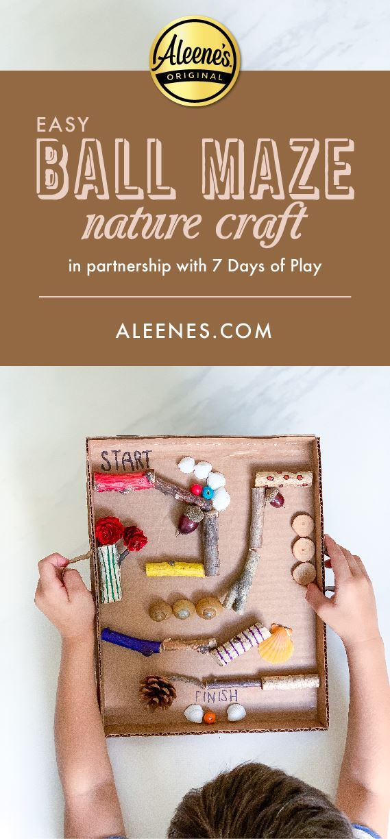 Picture of Easy Ball Maze Nature Craft