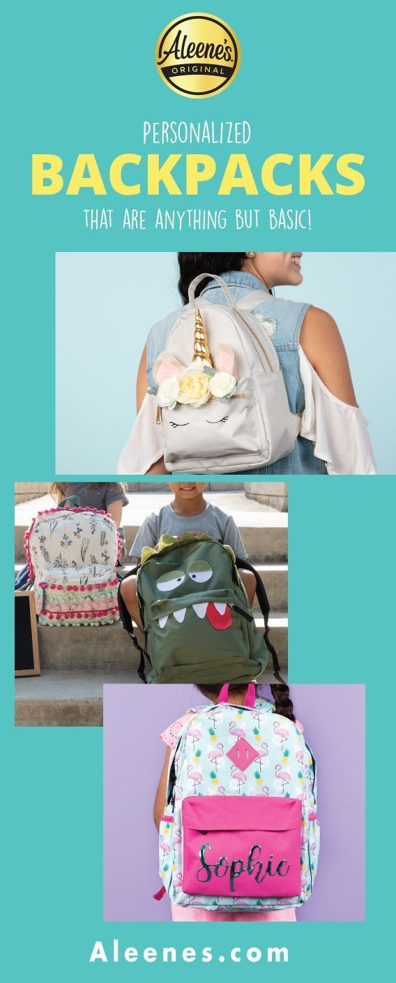 Personalize a Backpack