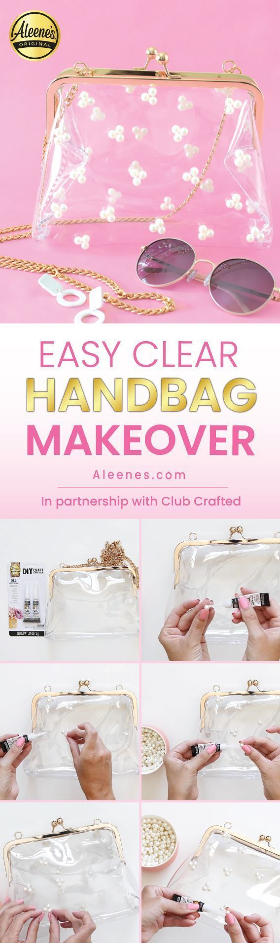 Clear Stadium Bag Makeover with Aleene's