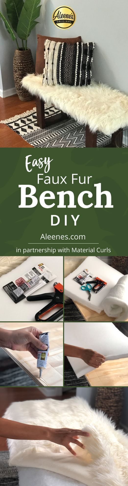 Easy Upholstered Bench DIY