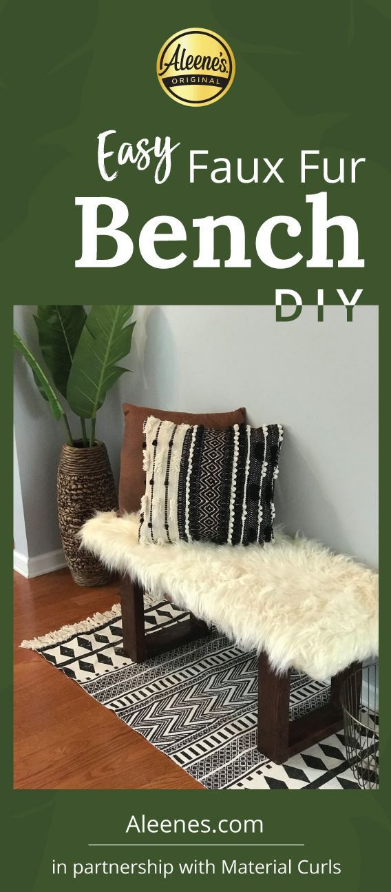 Picture of Easy Upholstered Bench DIY