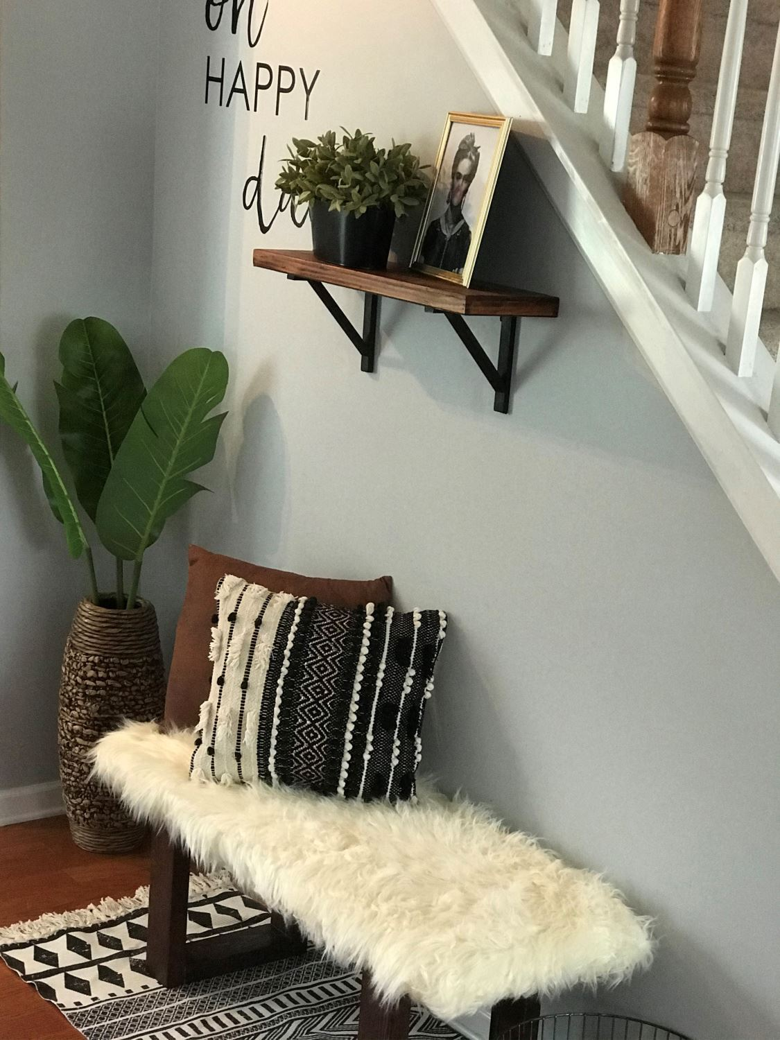 Aleene's Upholstered Faux Fur Bench
