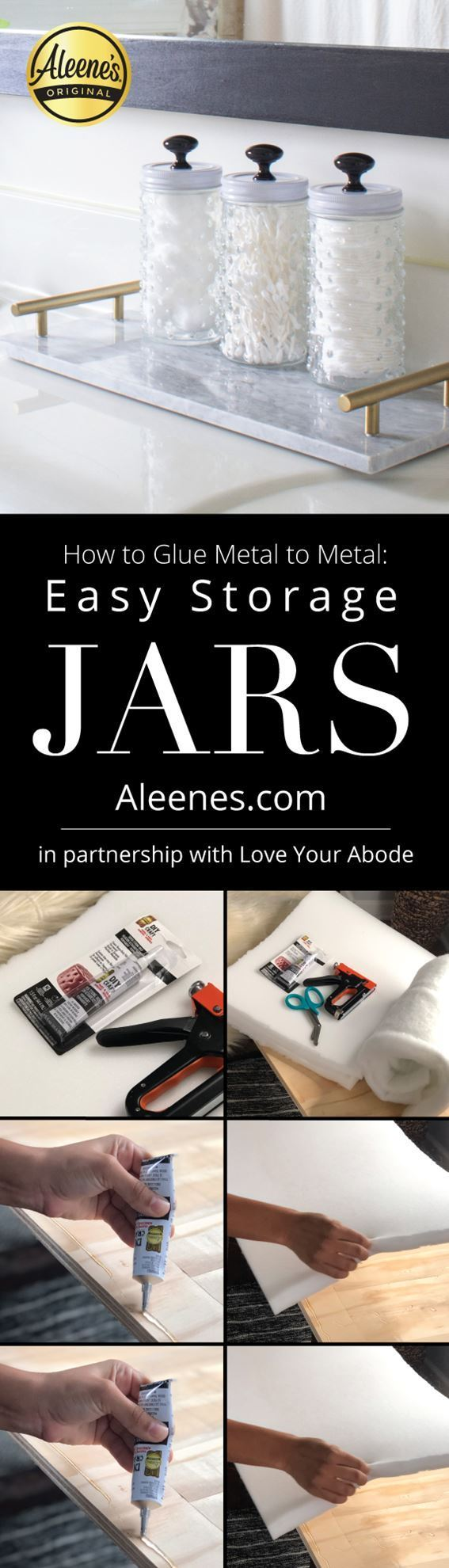 How to Glue Metal to Metal: Easy Storage Jars