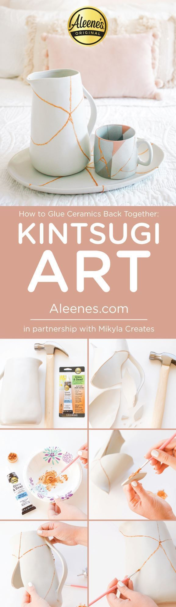 How to Glue Ceramics Back Together: Kintsugi Art