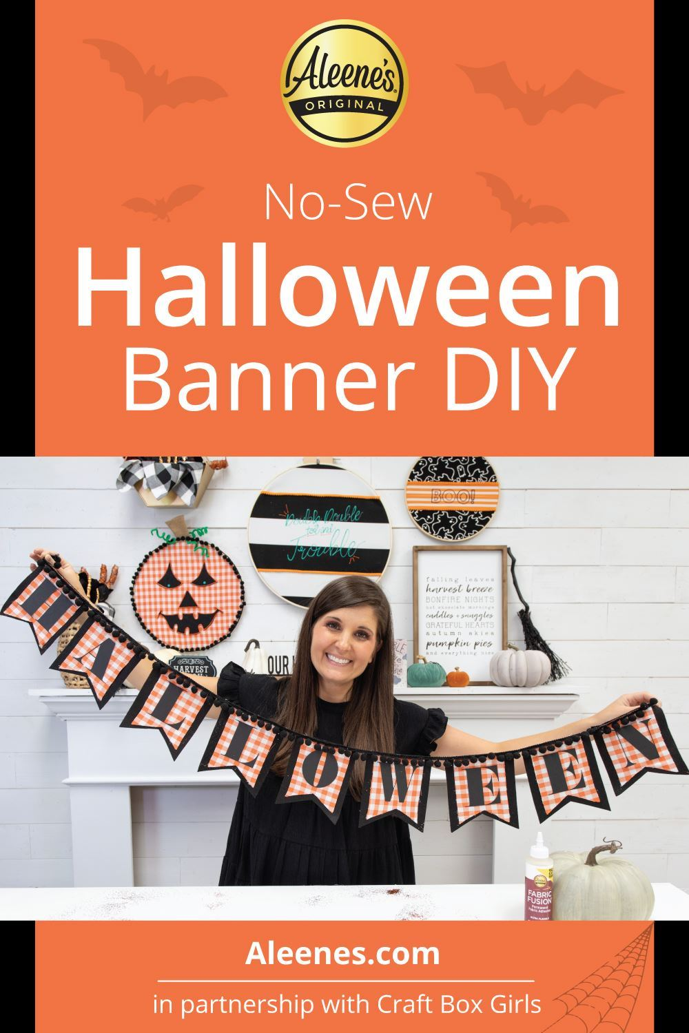 Picture of No-Sew Halloween Banner DIY