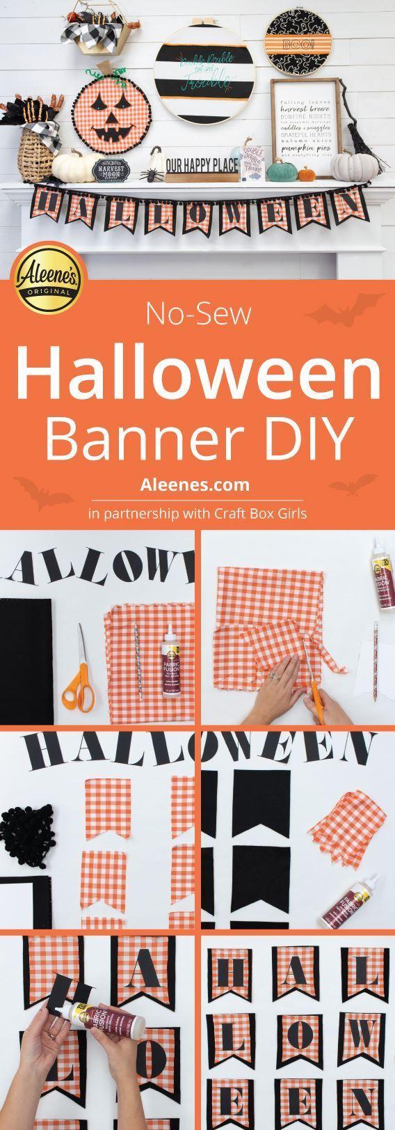 No-Sew Halloween Banner DIY