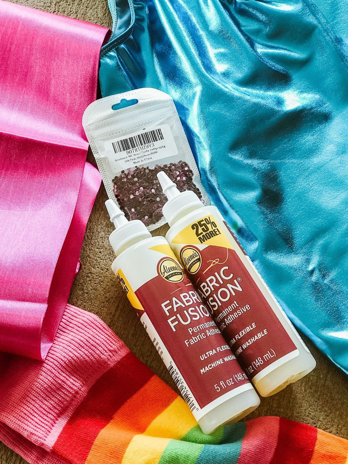 Fabric Fusion is permanent, washable and flexible